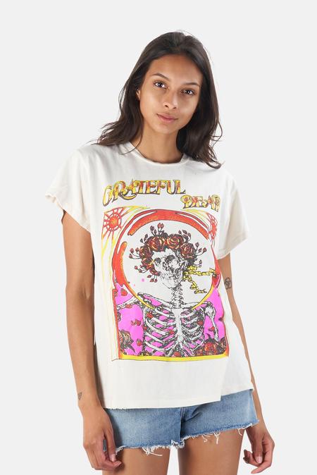 MadeWorn Rock Grateful Dead Skull & Roses T-Shirt - Off White