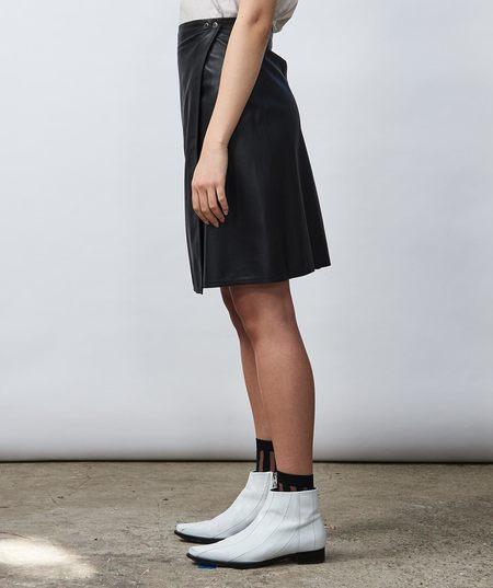 Shaina Mote At Land Leather Skirt