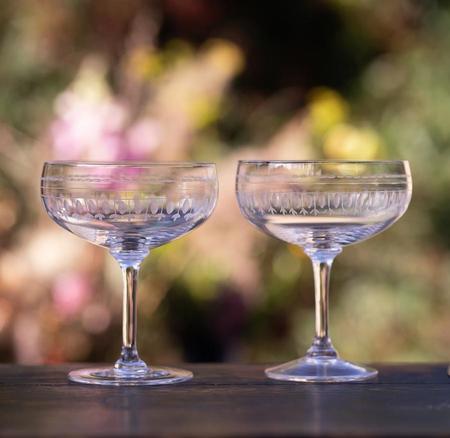 The Vintage List Set of 4 Ovals Cocktail Glasses