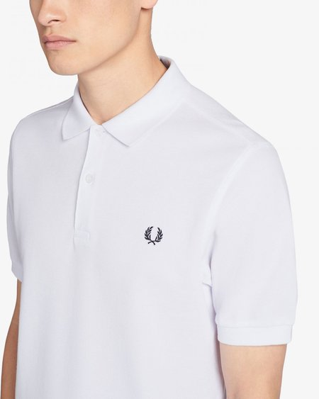 Fred Perry M6000 Short Sleeve Polo - White