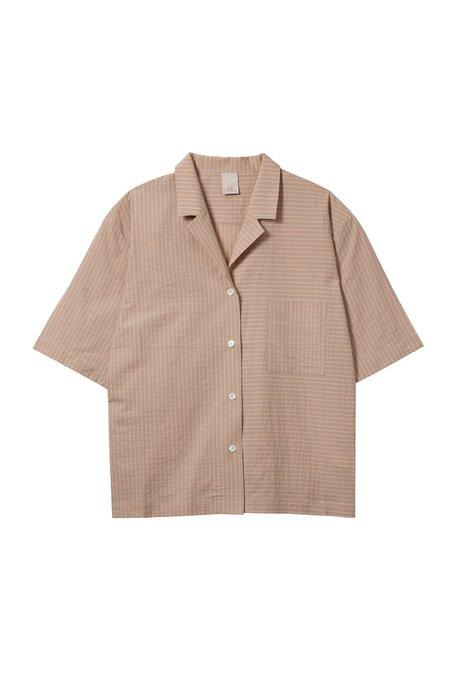 Soft Focus The Short Sleeve Shirt - Tan Stripe