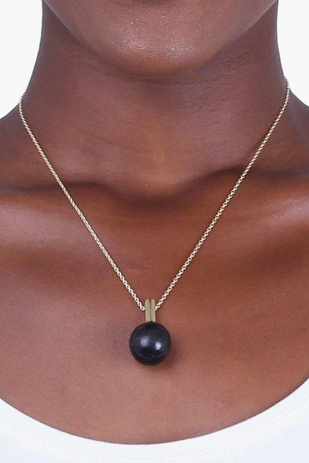 SOKO Sawa Drop Necklace - Gold/Black