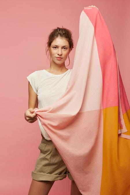 Moismont Square Scarf - Pink/Coral Tones