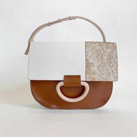 Crescioni logan bag - neutral patchwork