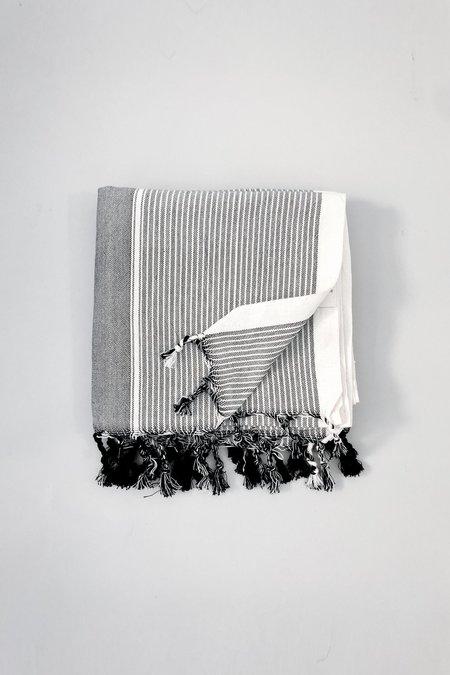 Home & Loft Tribecca Towel - Grey Stripe
