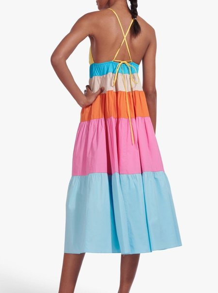 Staud Cleo Dress - Turquoise Multi