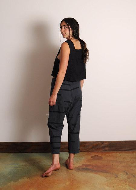 Uzi NYC Broken Stripe Pant - Charcoal