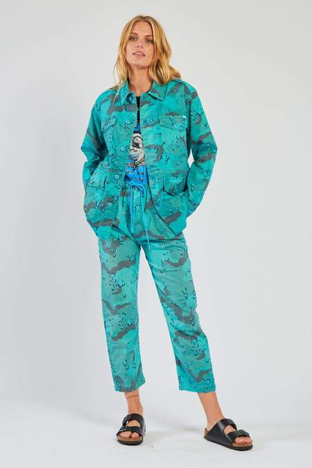 Mother Denim The Catch All Ankle Pants - Horizon Blue