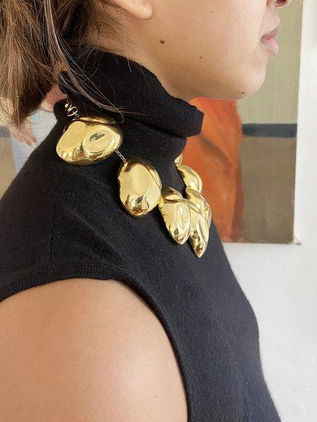 PRE-LOVED MONICA SORDO CUBAGUA PEBBLE CHOKER - 24K Gold Plated Brass
