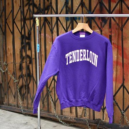 Tilted Brim TENDERLOIN Champion arch crewneck sweatshirt - grape