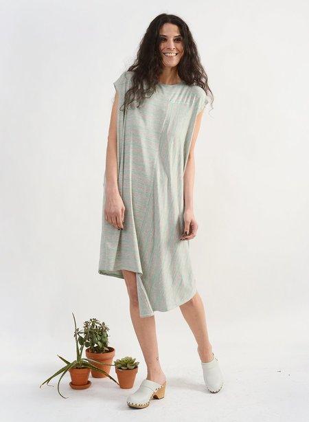 Meg Stripe Dress - Grey/Mint