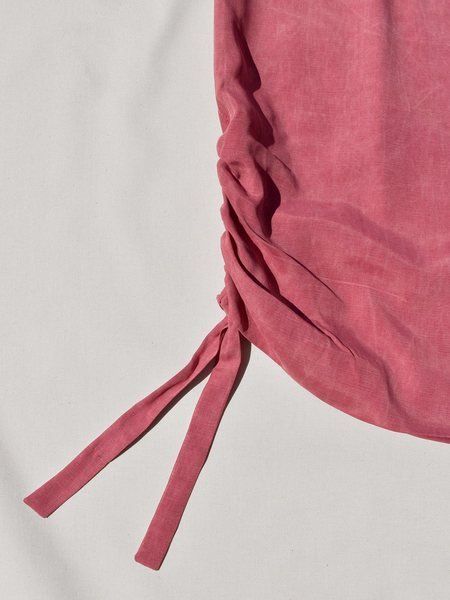 This Woman's Work Tube Drawstring Detail Skirt - Berry