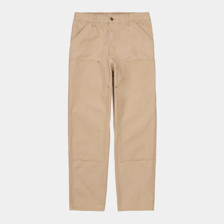 CARHARTT WIP Organic Cotton Double Knee Pant - Dusty Hamilton Brown