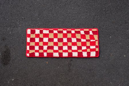 Alice Duncan-Gardiner Checked Rug - Red