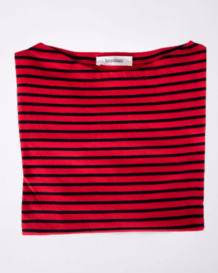 Gelsomina Cotton T-shirt - Red/Blue