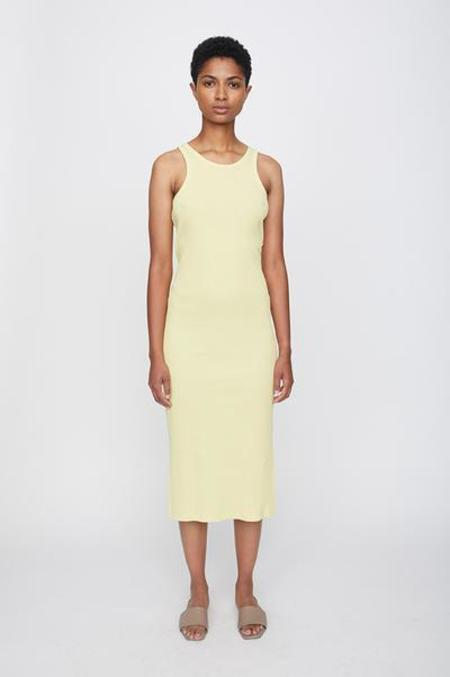 Just Female Rancho Tank Dress - Lemon Grass