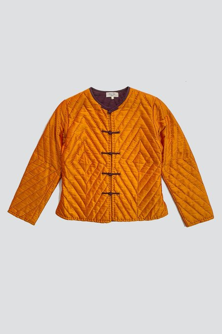 Vintage Iridescent Silk Taffeta Quilted Jacket