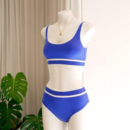 DENiZERi Ege Bikini Top - Ultramarine/Avorio
