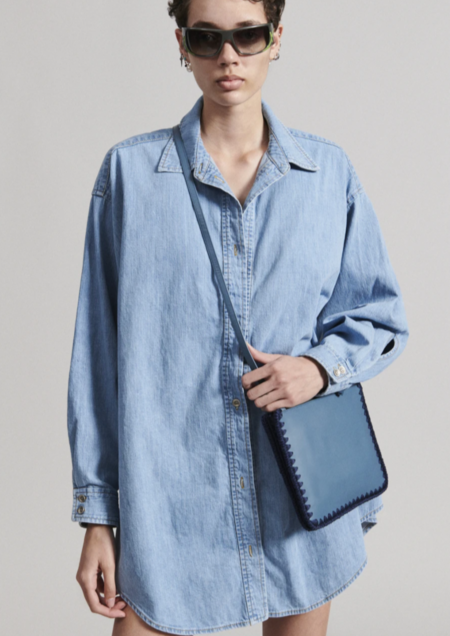 Rachel Comey Ivins Shirt Dress - Washed Denim