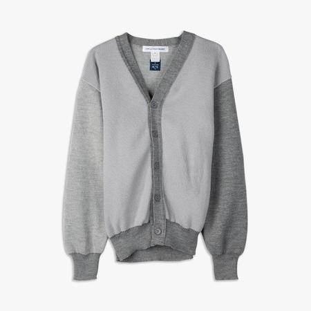 COMME des GARÇONS SHIRT Contrast Knit Cardigan - Grey