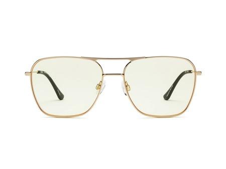 Caddis Hooper Reading Glasses - Gold Polished