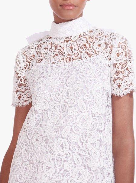 Staud Doris Lace Mini Dress - WHT