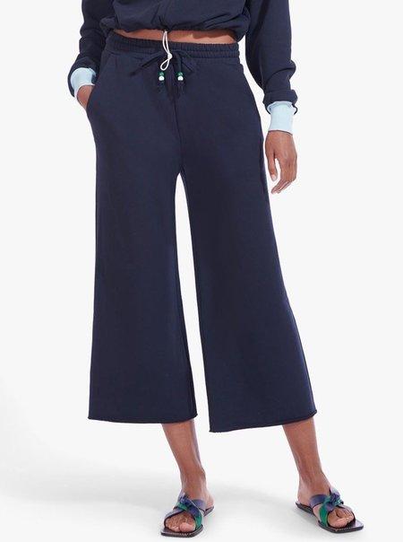 Staud Wide Leg Cropped Sweatpants - DEEPSEA