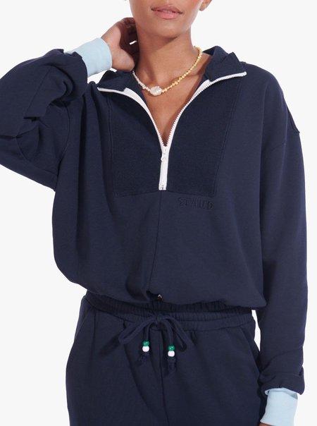 Staud Zip Up Sweatshirt - DEEPSEA