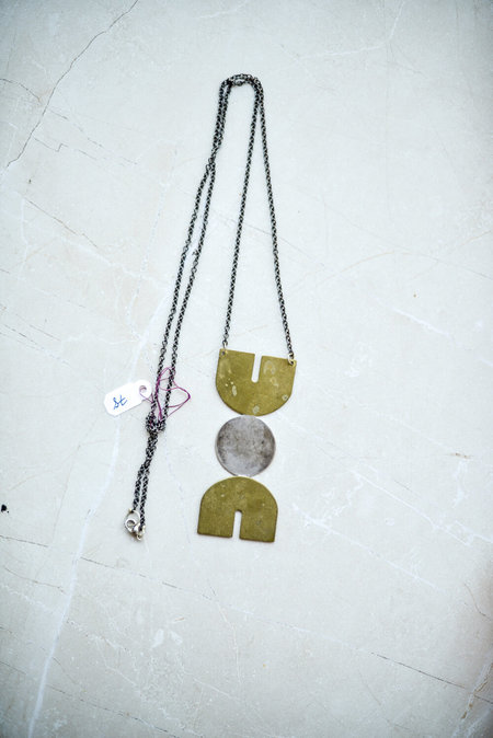 MADA Geometric Metallic Necklace
