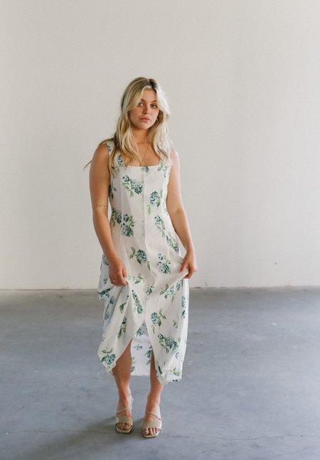 Rollas Claire Hydrangea Dress - White