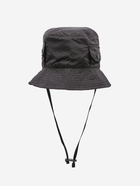 Engineered Garments PC Poplin Explorer Hat - Black