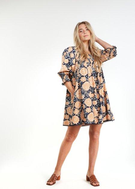 The Odells Cynthia Dress - Indigo Multi