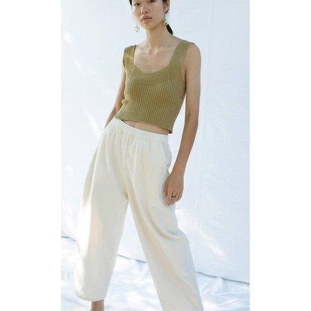 Micaela Greg Barrel Pant - Cream
