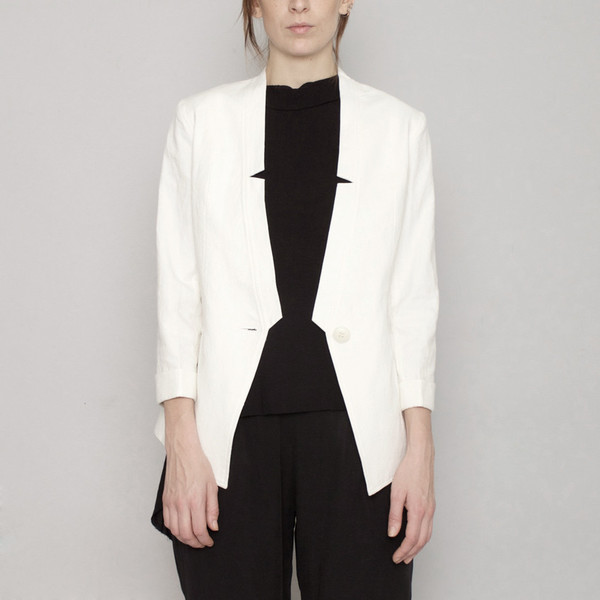 7115 by Szeki Deconstructed Blazer R16- White