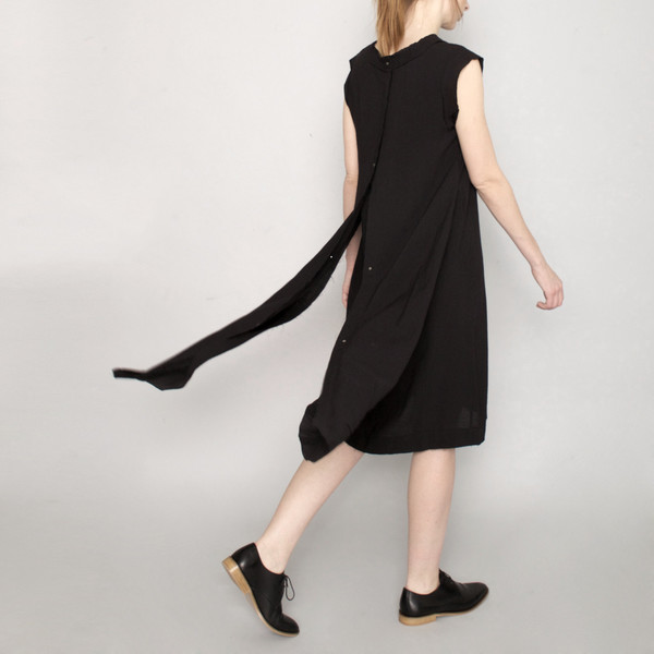 7115 by Szeki Signature Frayed Edge Dress