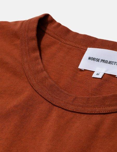 Norse Projects Johannes GMD T-Shirt - Burnt Ocher