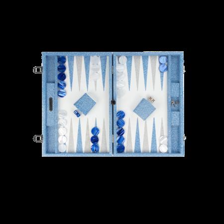 Hector Saxe Backgammon - Stingray Blue/White