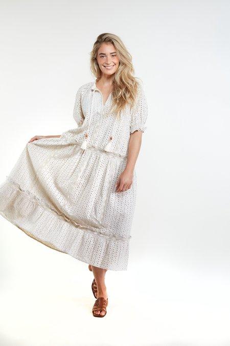 THE ODELLS Paulina Maxi Dress - COCONUT MILK