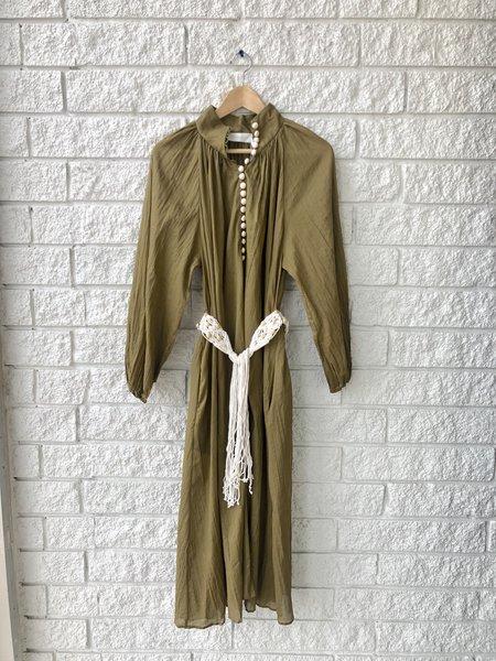 Zimmermann CASSIA CRINKLE SHIRT DRESS - COFFEE