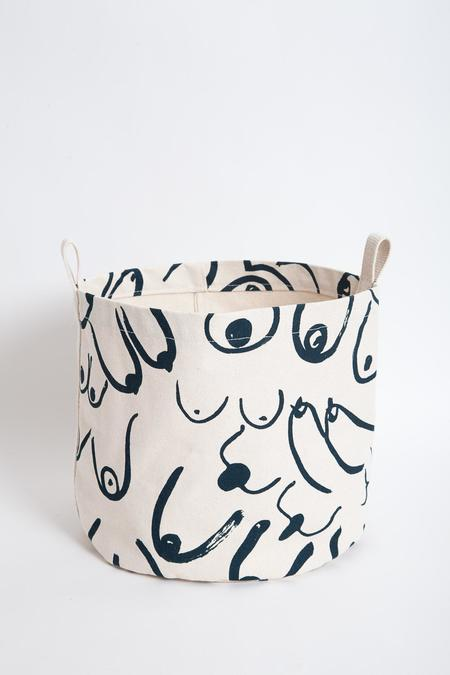Gravel & Gold Canvas Bucket - Boobs
