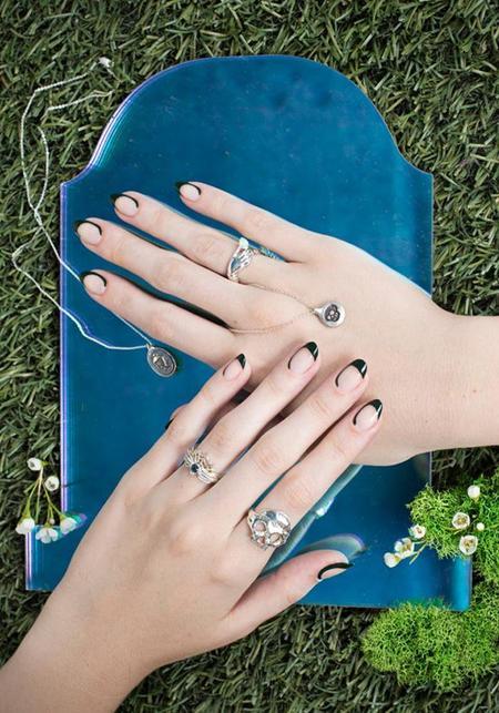 Margaret Cross Sterling Silver Opal Teardrop Ring - Silver
