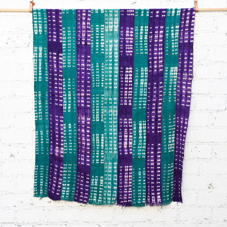Vintage Made Solid West African - Green and Purple