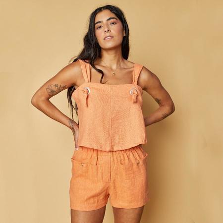 Back Beat Co.: Linen Boxer Short - Peach