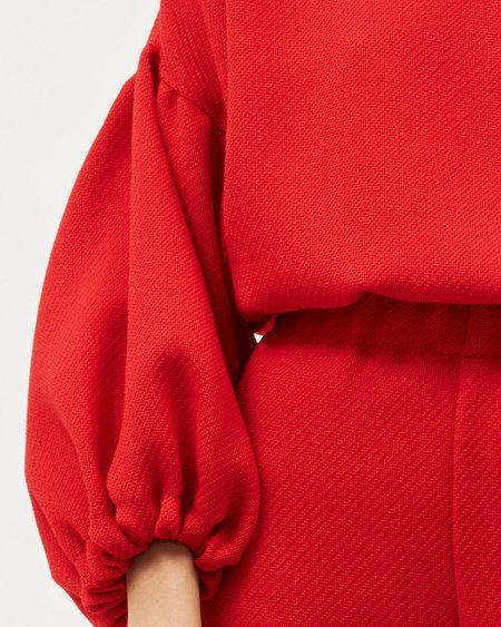 Dominique Healy Louie Crop - Red