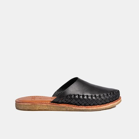 The CANO Shoe ISABEL mule - Natural Black