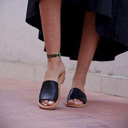 The Cano Shoe Ximena Sandals - Black