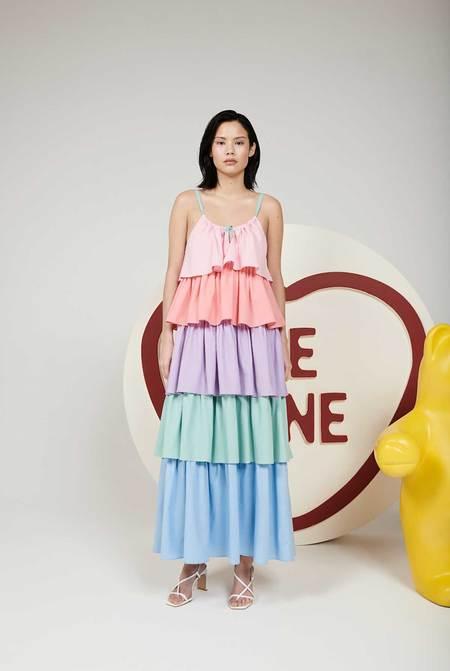 Olivia Rubin Lilia Colourblock Dress - multi