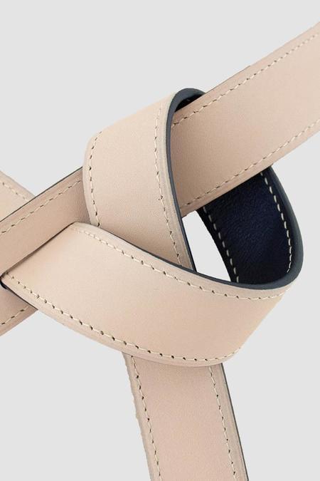 Phi 1.618 Reversible Belt - Pale Blush/Navy