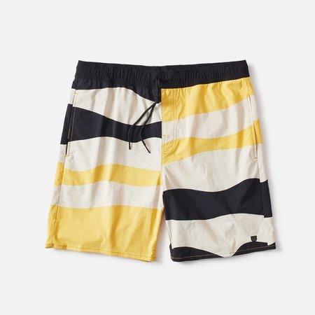 Brixton Voyage Shorts - Black/Blonde