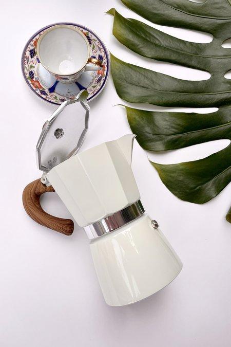 Betwentys Stove Top Espresso Pot - White